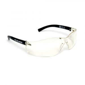 MSA NULLARBOR Safety Glasses With Black Frame & Clear Scratch Resistant Anti-Fog