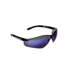 MSA NULLARBOR Safety Glasses With Black Frame & Blue Scratch Resistant Lenses